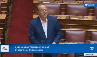Α.Τριανταφυλλίδης για Α' Κατοικία: «Να νομοθετήσουμε το προτιμησιακό καθεστώς δανειολήπτη».(ΒΟΥΛΗ+ΒΙΝΤΕΟ)