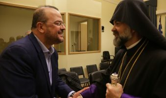 Συνάντηση του Προέδρου της Διακομματικής για τον Ελληνισμό της Διασποράς, Α.Τριανταφυλλίδη με τον νεοεκλεγέντα Μητροπολίτη Ορθοδόξων Αρμενίων Ελλάδος Αρχιεπίσκοπο κ.κ. Κεγάμ Χατσεριάν(ΦΩΤΟ)