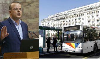 «Βελτίωση των δρομολογίων του ΟΑΣΘ» προτείνει  με τροπολογία νόμου ο Αλέξανδρος Τριανταφυλλίδης.