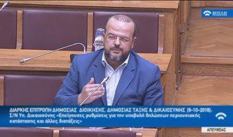 Πρόταση A.Τριανταφυλλίδη στη Βουλή για τραπεζική, φορολογική και ασφαλιστική ενημερότητα των κομμάτων που επιθυμούν να συμμετέχουν στις εκλογές-Κατατέθηκε η σχετική πρόταση παρουσία του Υπουργού Δικαιοσύνης στη διάρκεια συνεδρίασης της Επιτροπής Δημόσιας Διοίκησης.(ΒΙΝΤΕΟ)