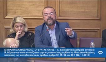 Α.Τριανταφυλλίδης στην Επιτροπή Αναθεώρησης: «Ποιος φοβάται τη Βιρτζίνια Γουλφ; Ποιος φοβάται την αναθεώρηση του άρθρου 86 περί μη ευθύνης Υπουργών;»(BINTEO-ΠΡΑΚΤΙΚΑ)