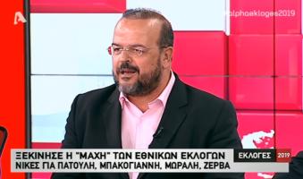 Α.Τριανταφυλλίδης κατά ΝΔ (στον Alpha και τον Α.Σρόιτερ): «Με την προβιά και τον μανδύα της μετριοπάθειας επιχειρούν να υφαρπάξουν την ψήφο του ελληνικού λαού».