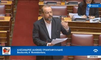 Στη Βουλή οι συμπλοκές στο κέντρο της Θεσσαλονίκης. Ερώτηση-Παρέμβαση του Βουλευτή Α.Τριανταφυλλίδη