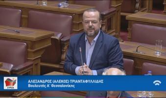 Παρέμβαση Τριανταφυλλίδη στη Βουλή για τις ασφαλιστικές εισφορές των δικηγόρων. (VIDEO)