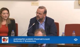 Α.Τριανταφυλλίδης στη Βουλή: «Μέριμνα- Έγνοια στις Έξυπνες Πόλεις: 1. για τα ΑΜΕΑ, την Τρίτη ηλικία, 2. Ανεργία Νέων και Γυναικών».(VIDEO)