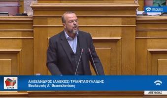 Α. Τριανταφυλλίδης στη Βουλή για μεταναστευτικό: «Επικίνδυνη πλέον η Κυβέρνηση για την κοινωνική ειρήνη και την κοινωνική συνοχή». (Video)