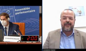 Α.Τριανταφυλλίδης στο Συμβούλιο της Ευρώπης- με αφορμή ψήφισμα καταδίκης της Τουρκίας για τη μετατροπή της Αγίας Σοφίας σε τζαμί: «Κράτος-Διεθνής Ταραξίας η Τουρκία του Ερντογάν».