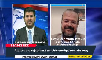 """Α.Τριανταφυλλίδης στο EUROTV: """"Ούτε Υγεία, Ούτε Οικονομία, Μόνη τους Θρησκεία είναι η Εξουσία"""". (Video)"""