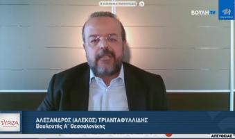 """Α.Τριανταφυλλίδης κατά Λιβάνιου στη Βουλή: """"Είστε ο βελούδινος ντελιβεράς των εξυπηρετήσεων"""". (Video)"""