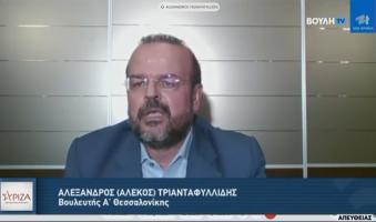 """Α.Τριανταφυλλίδης στη Βουλή: """"Εκτός Πανεπιστημίου αφήνει η ΝΔ 24 χιλιάδες Ελληνόπουλα"""".(Video)"""