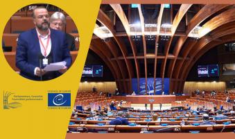 Α.Τριανταφυλλίδης στο Συμβούλιο της Ευρώπης (μιλώντας εκ μέρους του UEL): «73 μέρες μετά, και η δολοφονία του Γιώργου Καραϊβάζ παραμένει ανεξιχνίαστη». (Video)